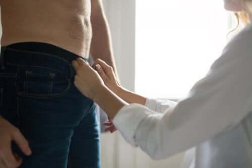 Intimità tra uomo e donna.