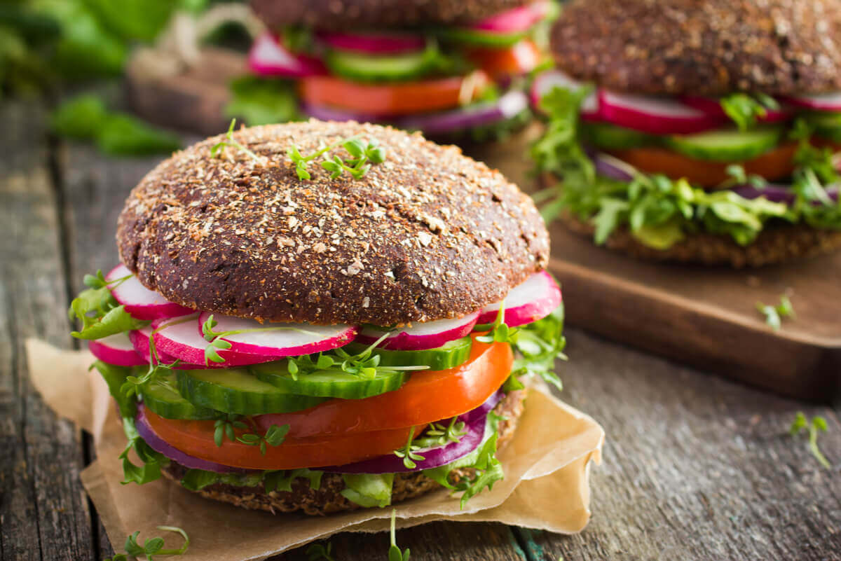 Hamburger vegano.