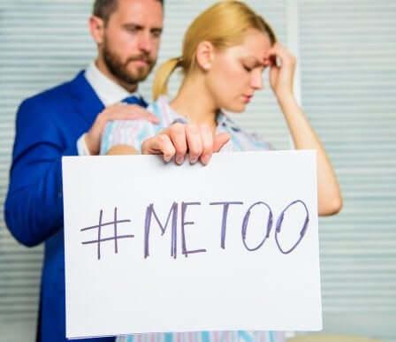 Movimento me too contro il maschilismo.