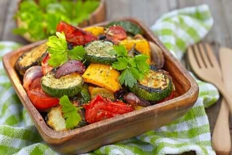 Teglia con verdure.
