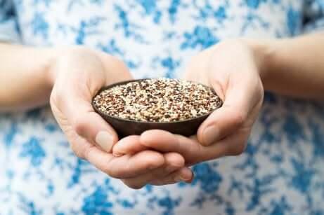 Ciotola di quinoa.