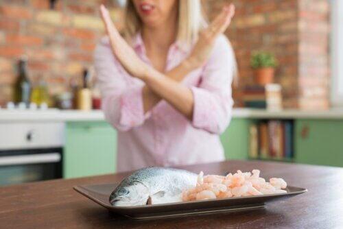 Allergia ai frutti di mare: sintomi e trattamento