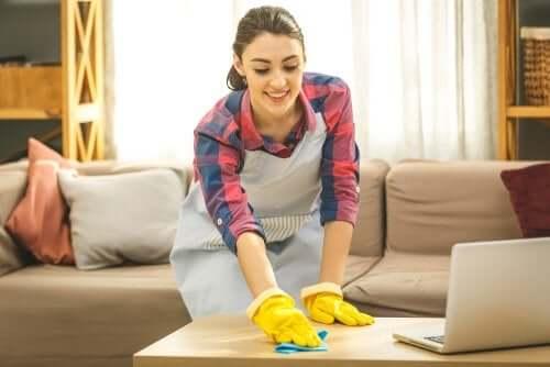 Eccessiva pulizia della casa.