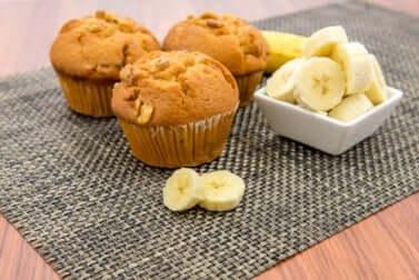 Muffin vegani alla banana.