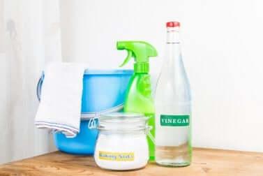 Prodotti per la pulizia del bagno e della doccia.