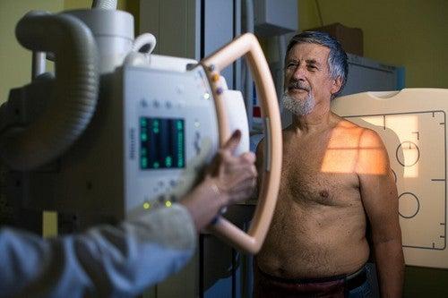 TAC per la diagnosi di broncopneumopatia cronica ostruttiva.