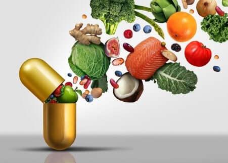 Alimenti ricchi di vitamina C.
