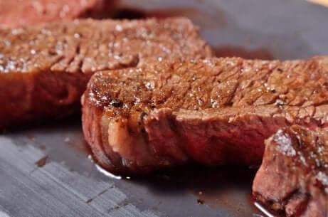 Carne ricca di ferro.