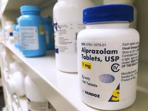 Confezione di alprazolam.