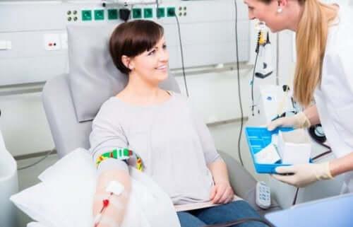 Donazione del sangue.
