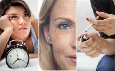 Fattori che causano invecchiamento della pelle.