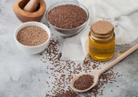 Olio e semi di lino.