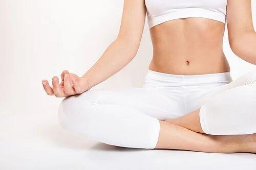 Posizione di Yoga.