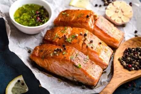 Salmone cucinato.