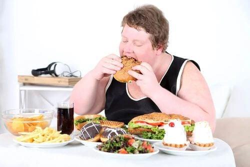 Ragazzo obeso con iperfagia.