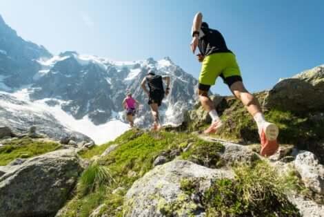 Corridori trail running.