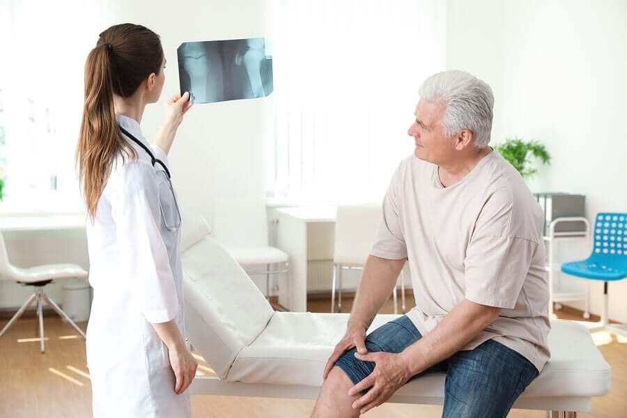 Radiografia del ginocchio.