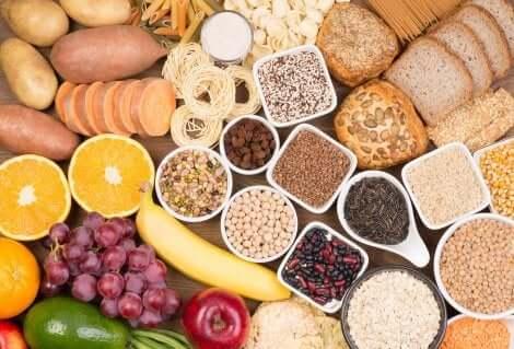 Alimenti fonti di carboidrati.