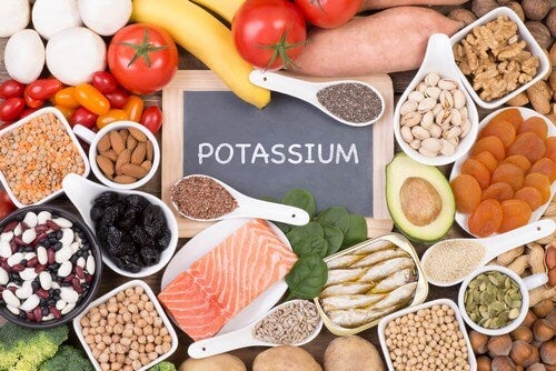 Alimenti ricchi di potassio.