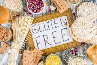 Alimenti senza glutine.