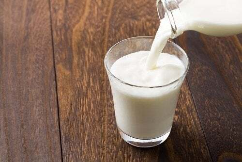 Bicchiere di latte.