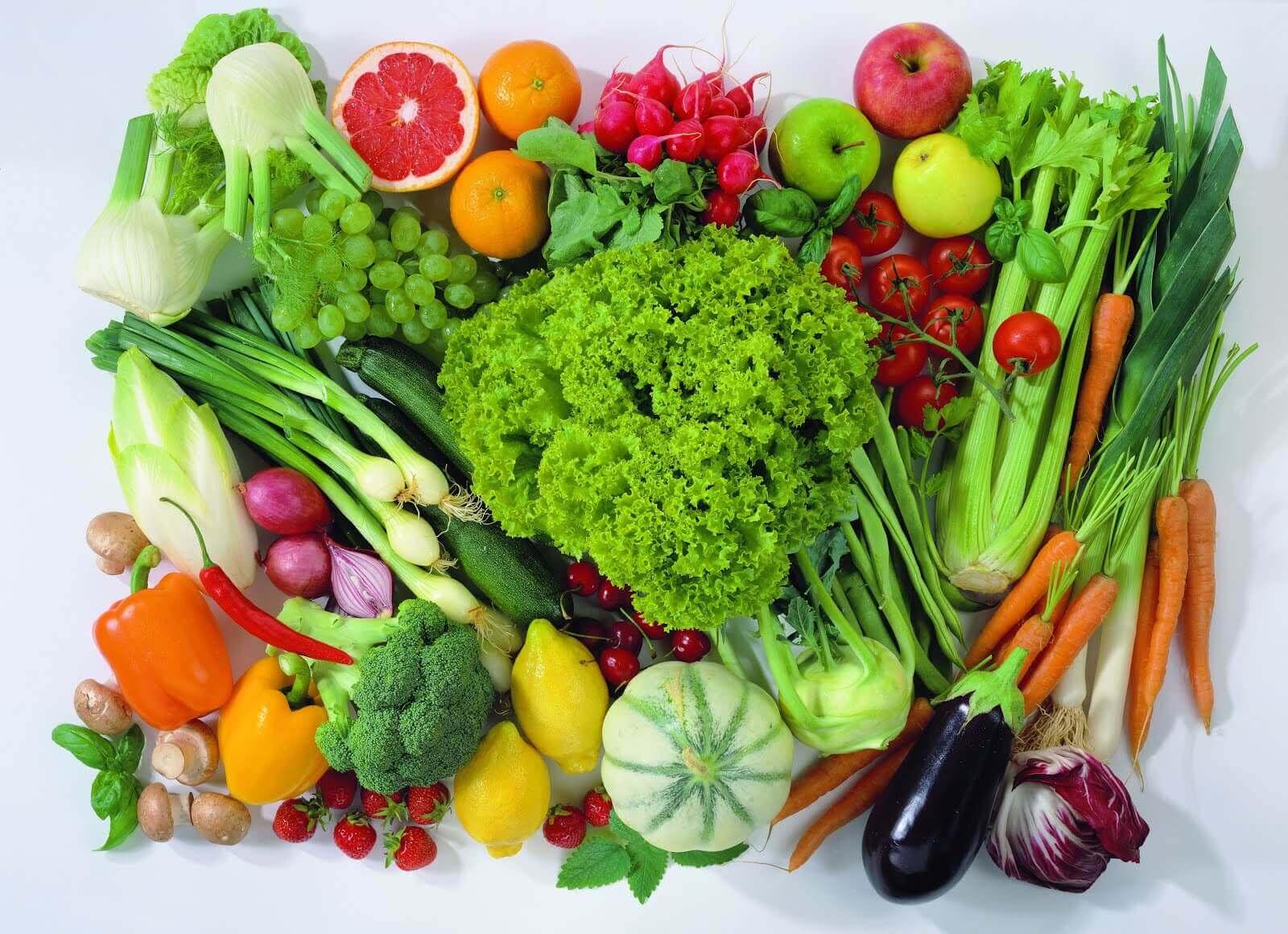 Frutta e verdura colorata.