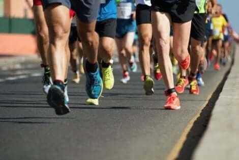 Partecipanti a una maratona.