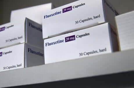 Confezioni di fluoxetina.