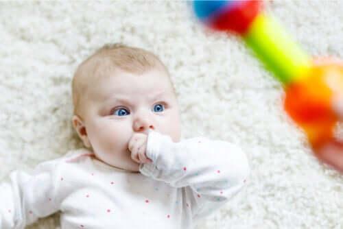 Il neonato fissa intensamente: per quale motivo?