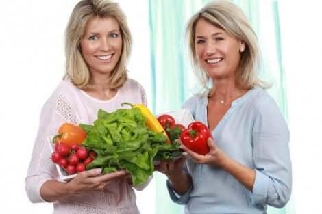 Frutta e verdura durante climaterio e menopausa.