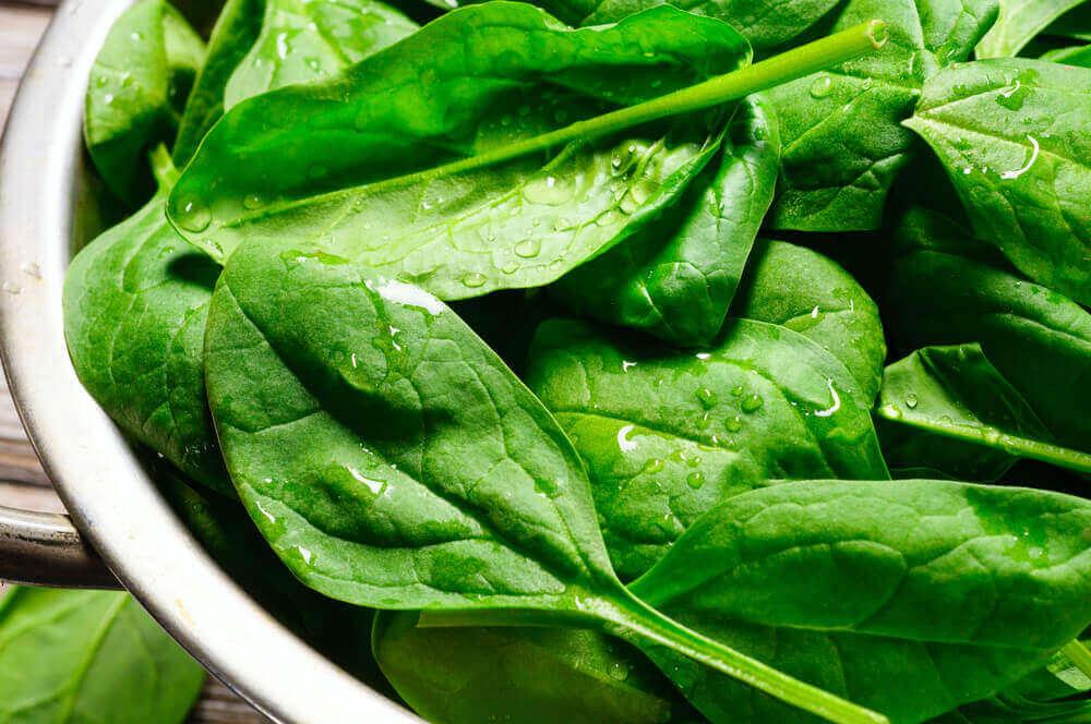 Foglie di spinaci.