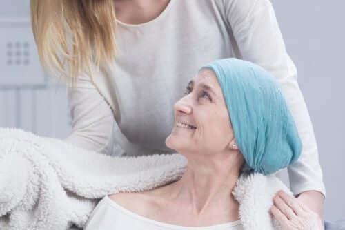 Donna chemioterapia.