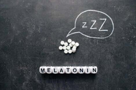 Integratori di melatonina.