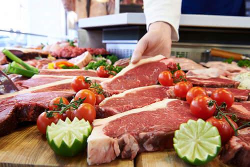 Tipi di carne rossa.