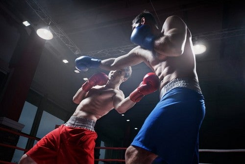Due pugili sul ring.