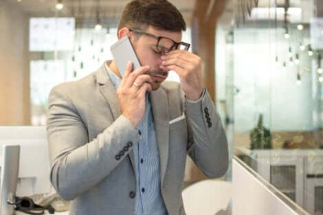 Lo stress può avere effetti sulla vista.