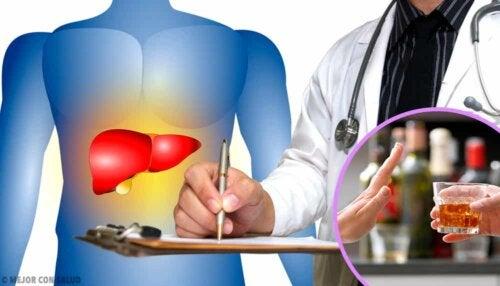 Diagnosi di cirrosi epatica.