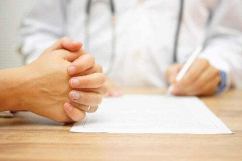 Paziente dal medico.