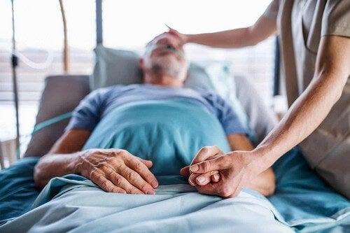 Paziente ricoverato in ospedale.