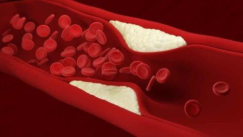 Immagine del sangue al computer.