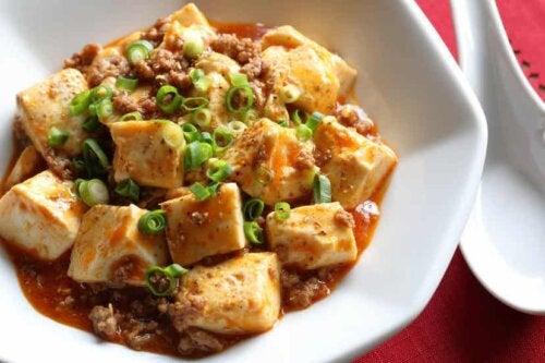 Tofu in salsa.