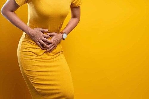 Dolore addominale dovuto alle mestruazioni.