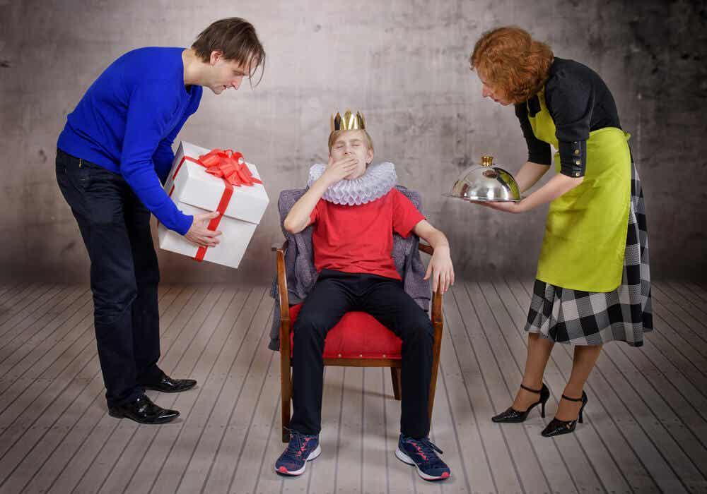 Genitori troppo esigenti verso il figlio.