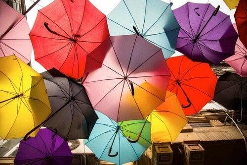 Ombrelli colorati.