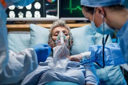 Paziente ricoverato per polmonite.