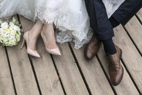 Coppia che si è sposata.