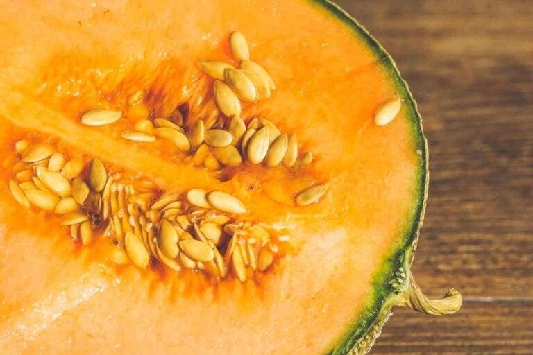 Melone usato per il gazpacho al melone.