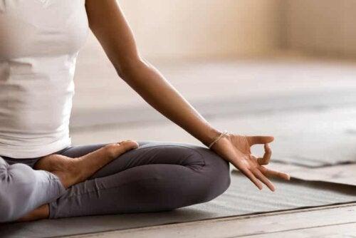 Posizione meditazione.