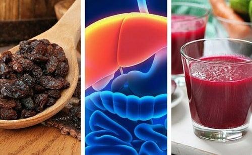5 alimenti che si prendono cura del fegato durante la notte
